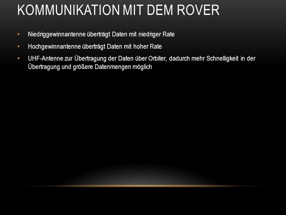 Kommunikation mit dem Rover