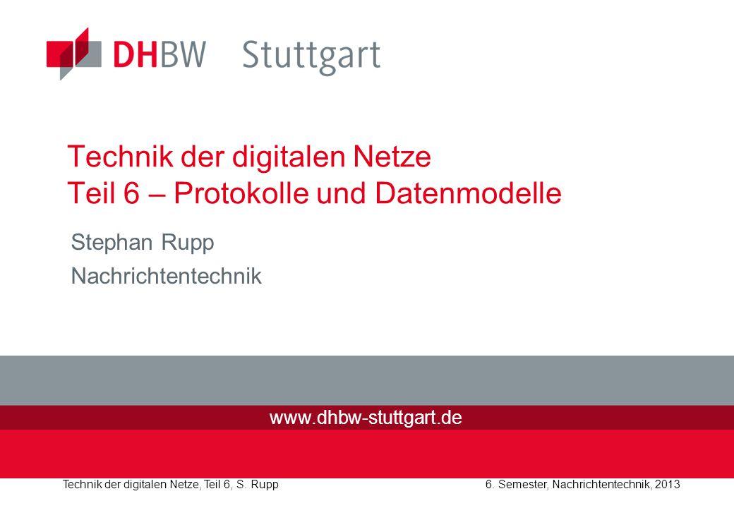 Technik der digitalen Netze Teil 6 – Protokolle und Datenmodelle