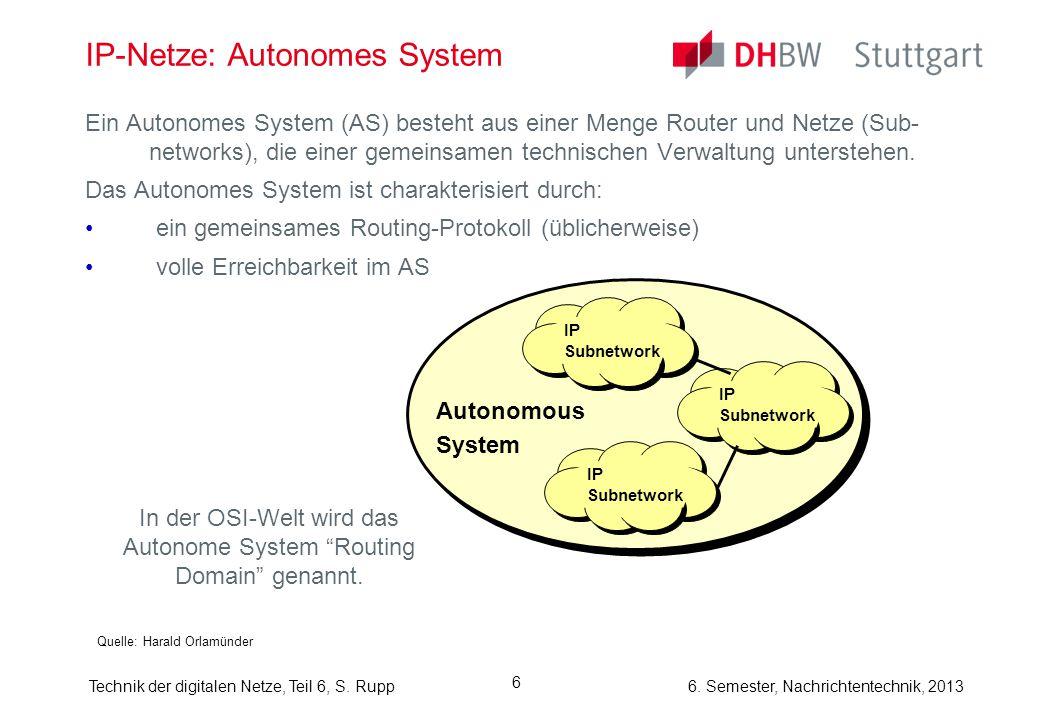 IP-Netze: Autonomes System