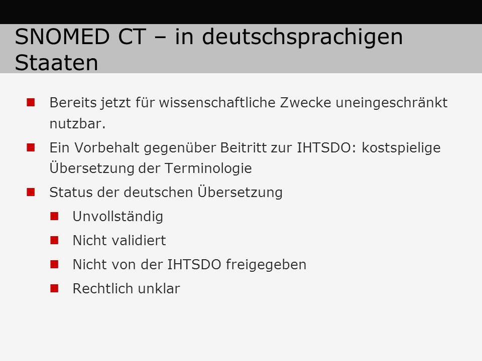 SNOMED CT – in deutschsprachigen Staaten