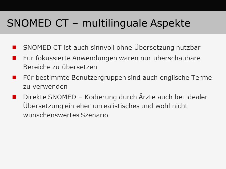 SNOMED CT – multilinguale Aspekte
