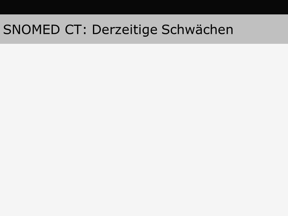 SNOMED CT: Derzeitige Schwächen