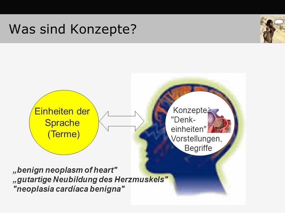 Was sind Konzepte Einheiten der Sprache (Terme) Konzepte/