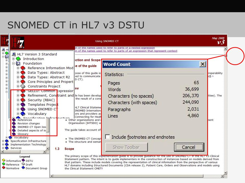 SNOMED CT in HL7 v3 DSTU 90