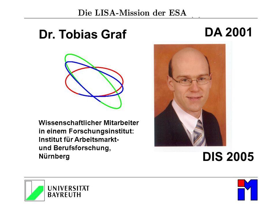 DA 2001 Dr. Tobias Graf DIS 2005 Wissenschaftlicher Mitarbeiter