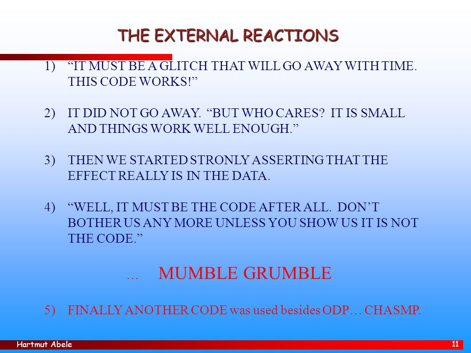 THE EXTERNAL REACTIONS