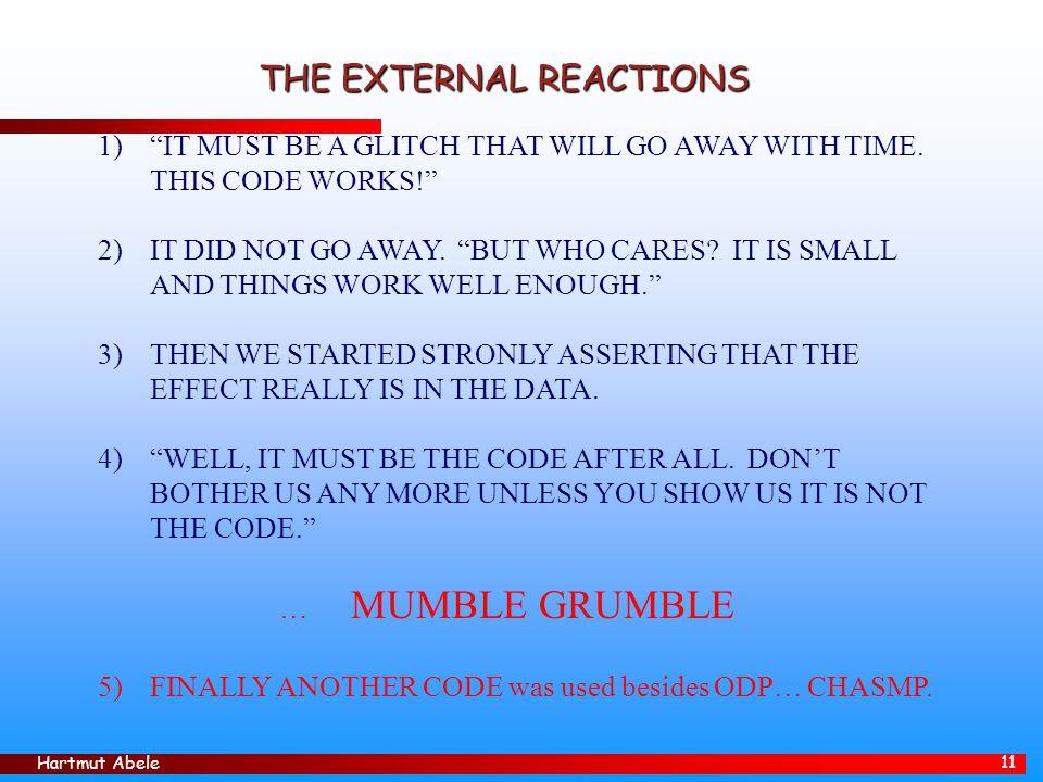 THE EXTERNAL REACTIONS