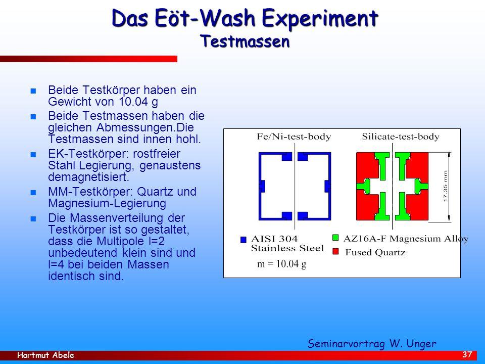 Das Eöt-Wash Experiment Testmassen