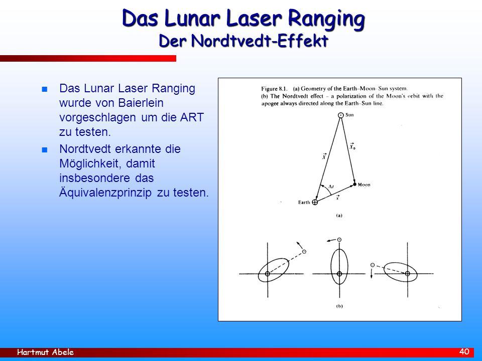 Das Lunar Laser Ranging Der Nordtvedt-Effekt
