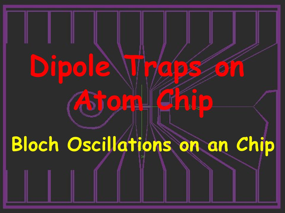 Dipole Traps on Atom Chip Bloch Oscillations on an Chip