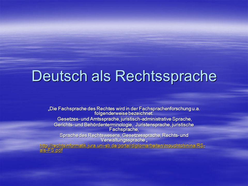 Deutsch als Rechtssprache