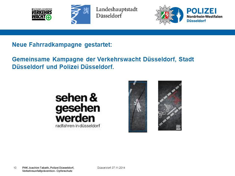 Neue Fahrradkampagne gestartet: Gemeinsame Kampagne der Verkehrswacht Düsseldorf, Stadt Düsseldorf und Polizei Düsseldorf.