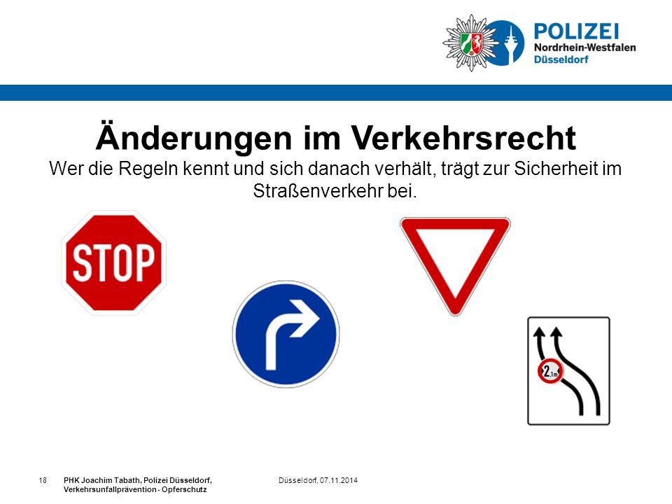 Änderungen im Verkehrsrecht Wer die Regeln kennt und sich danach verhält, trägt zur Sicherheit im Straßenverkehr bei.