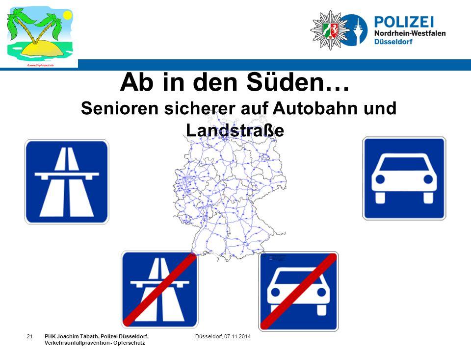 Ab in den Süden… Senioren sicherer auf Autobahn und Landstraße