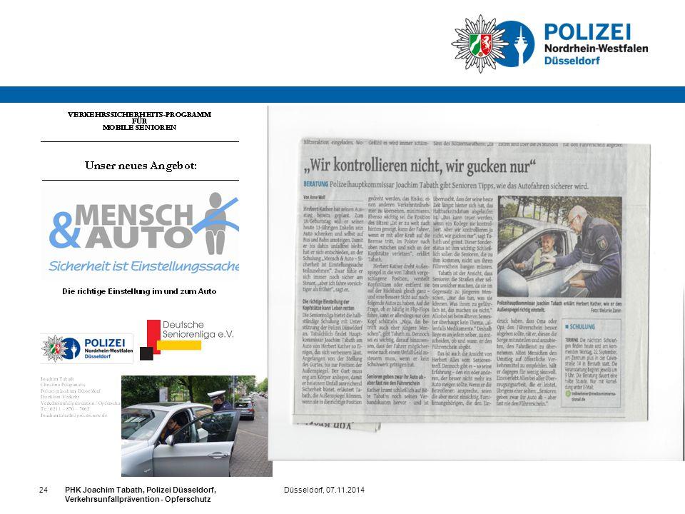 24 PHK Joachim Tabath, Polizei Düsseldorf, Verkehrsunfallprävention - Opferschutz.
