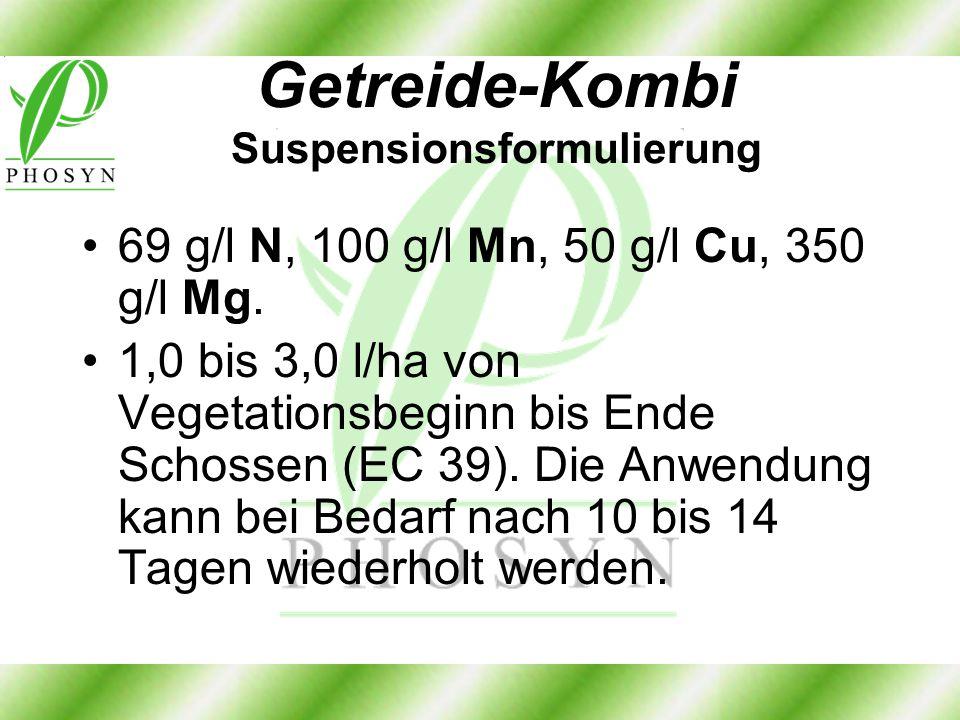 Getreide-Kombi Suspensionsformulierung