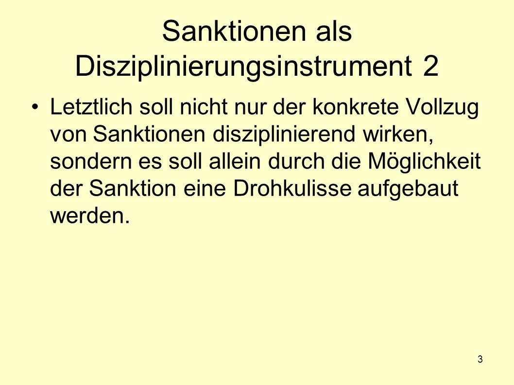 Sanktionen als Disziplinierungsinstrument 2