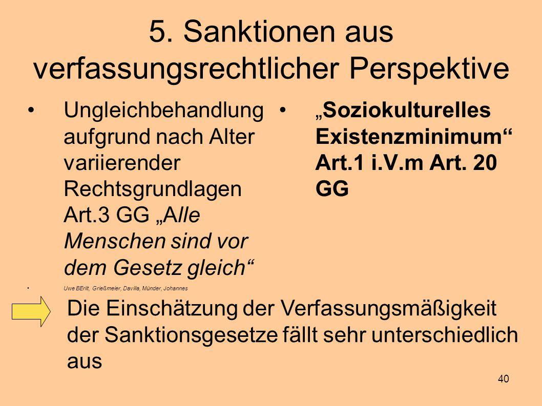 5. Sanktionen aus verfassungsrechtlicher Perspektive