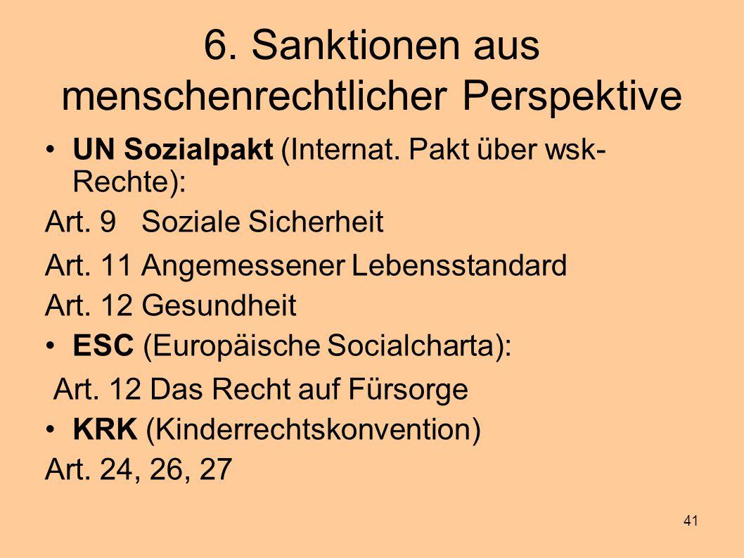6. Sanktionen aus menschenrechtlicher Perspektive