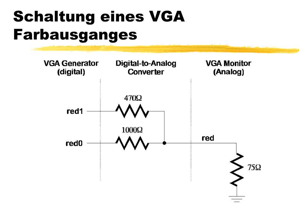 Schaltung eines VGA Farbausganges