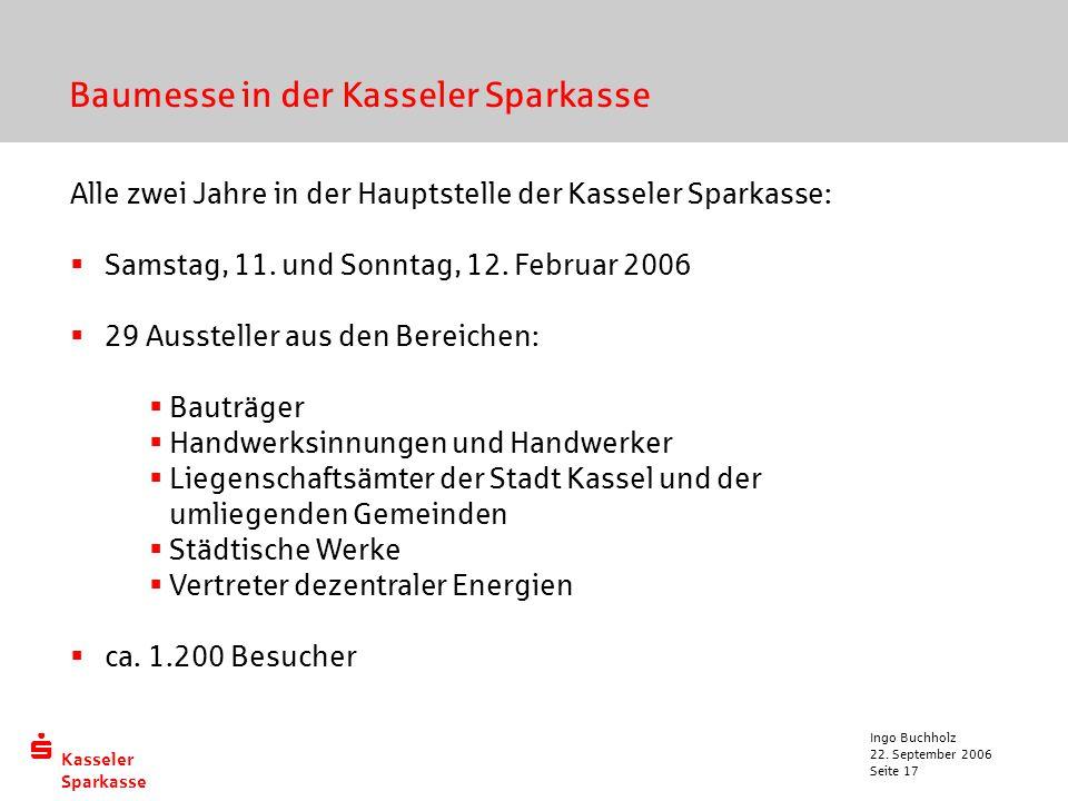 Baumesse in der Kasseler Sparkasse