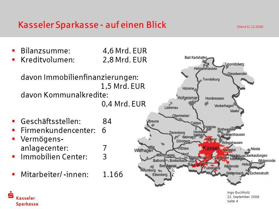 Kasseler Sparkasse - auf einen Blick (Stand 31.12.2005)