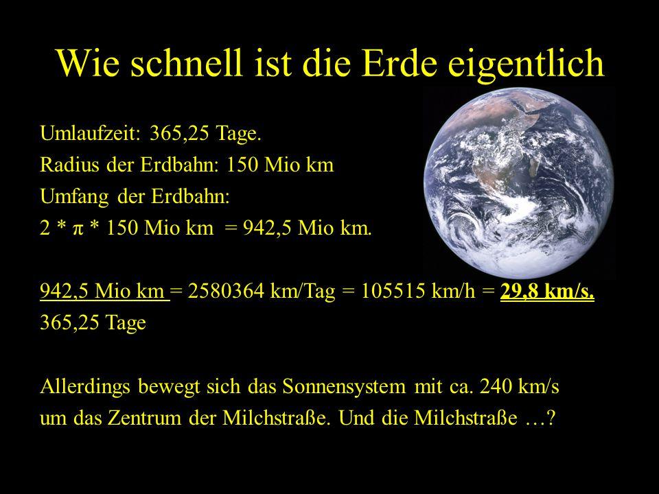 Wie schnell ist die Erde eigentlich
