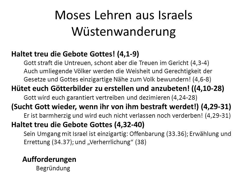 Moses Lehren aus Israels Wüstenwanderung