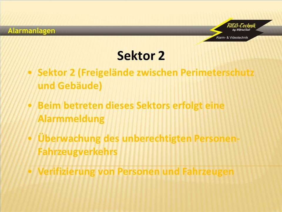 Sektor 2 Sektor 2 (Freigelände zwischen Perimeterschutz und Gebäude)