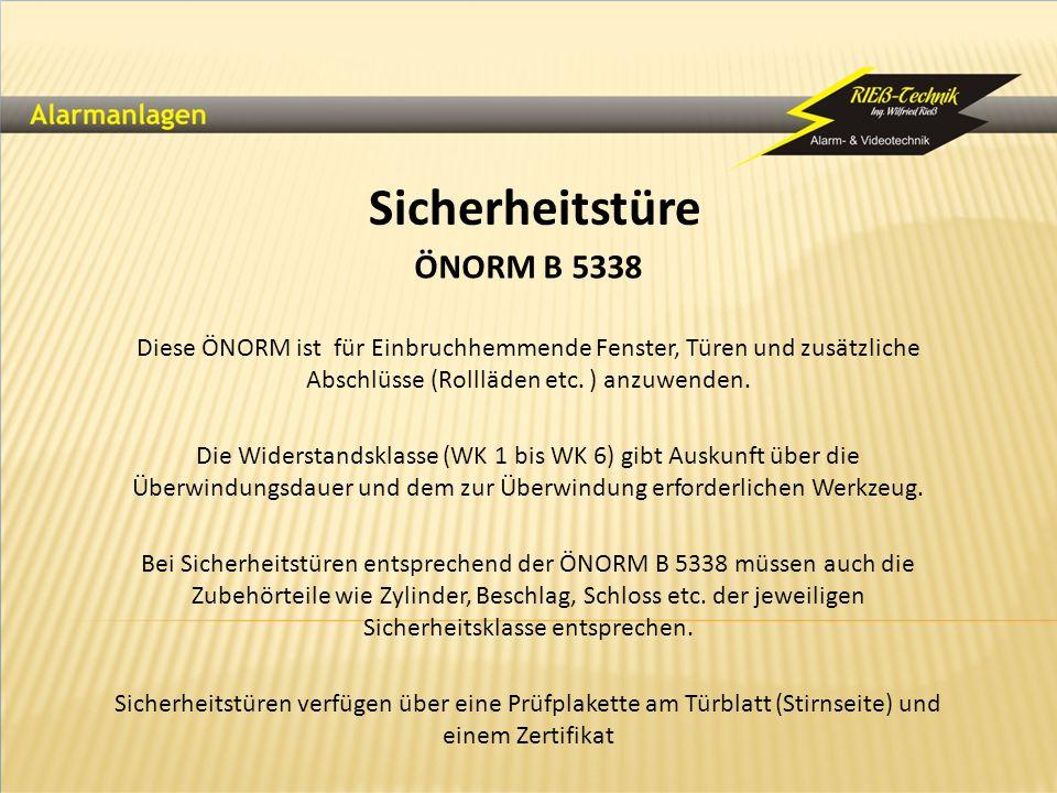 Sicherheitstüre ÖNORM B 5338