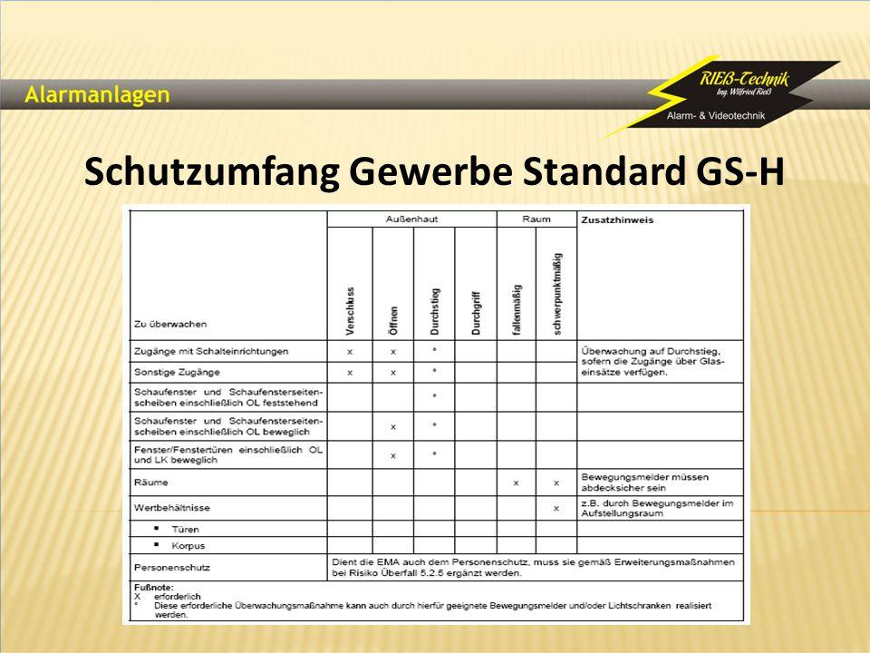 Schutzumfang Gewerbe Standard GS-H
