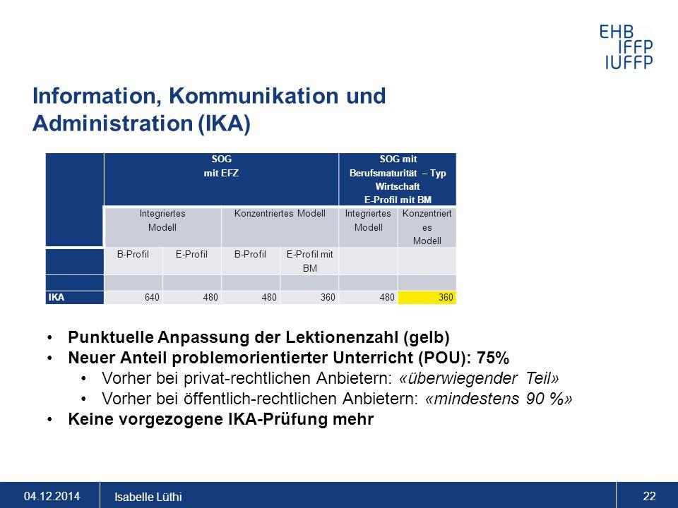 Information, Kommunikation und Administration (IKA)