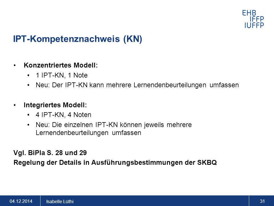 IPT-Kompetenznachweis (KN)