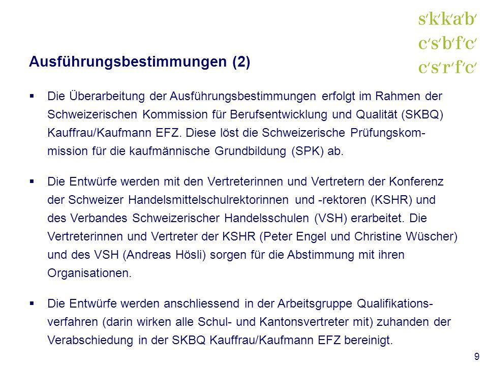 Ausführungsbestimmungen (2)