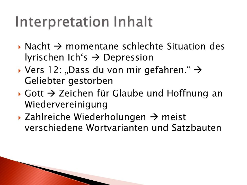 Interpretation Inhalt