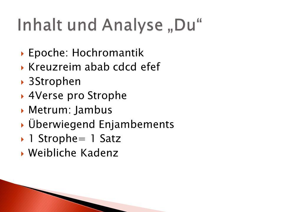 """Inhalt und Analyse """"Du"""