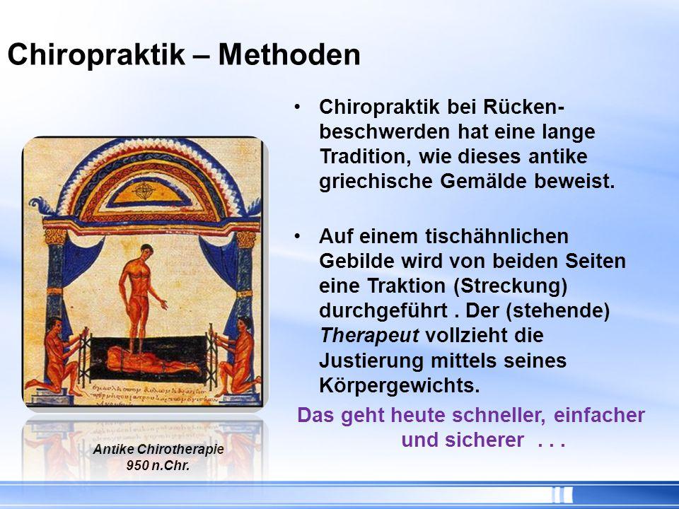 Chiropraktik – Methoden