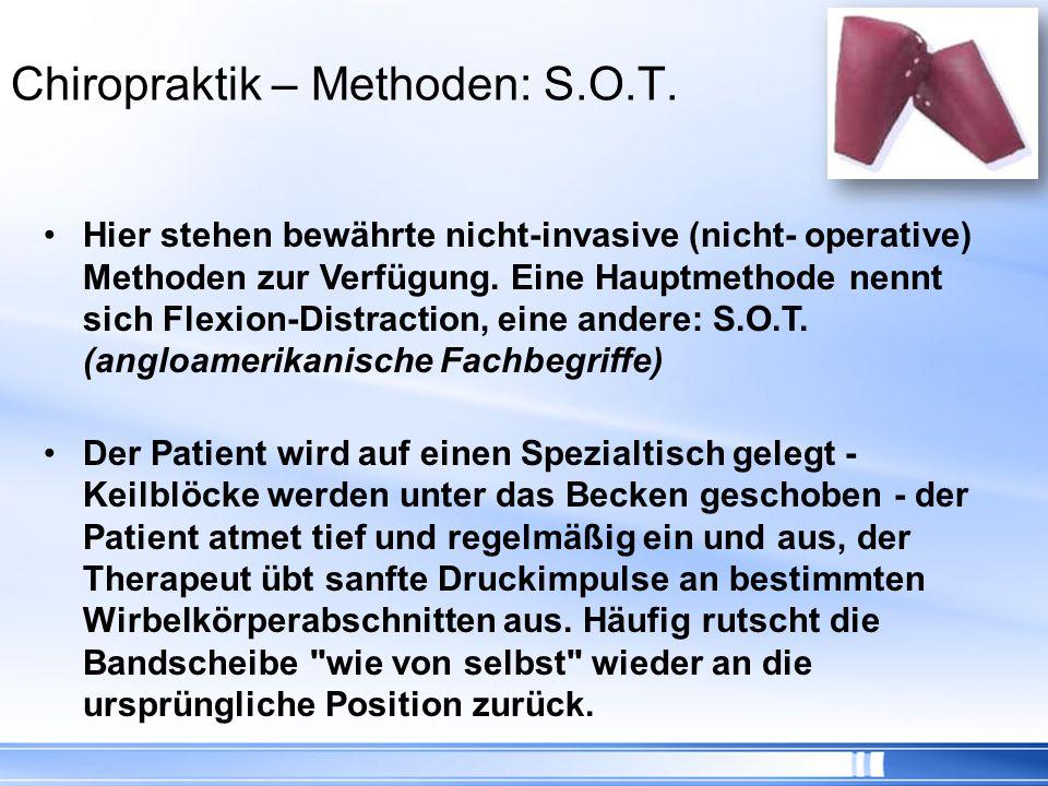 Chiropraktik – Methoden: S.O.T.