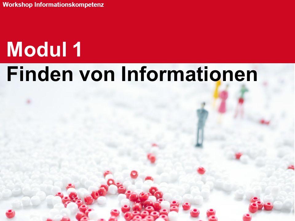 Modul 1 Finden von Informationen