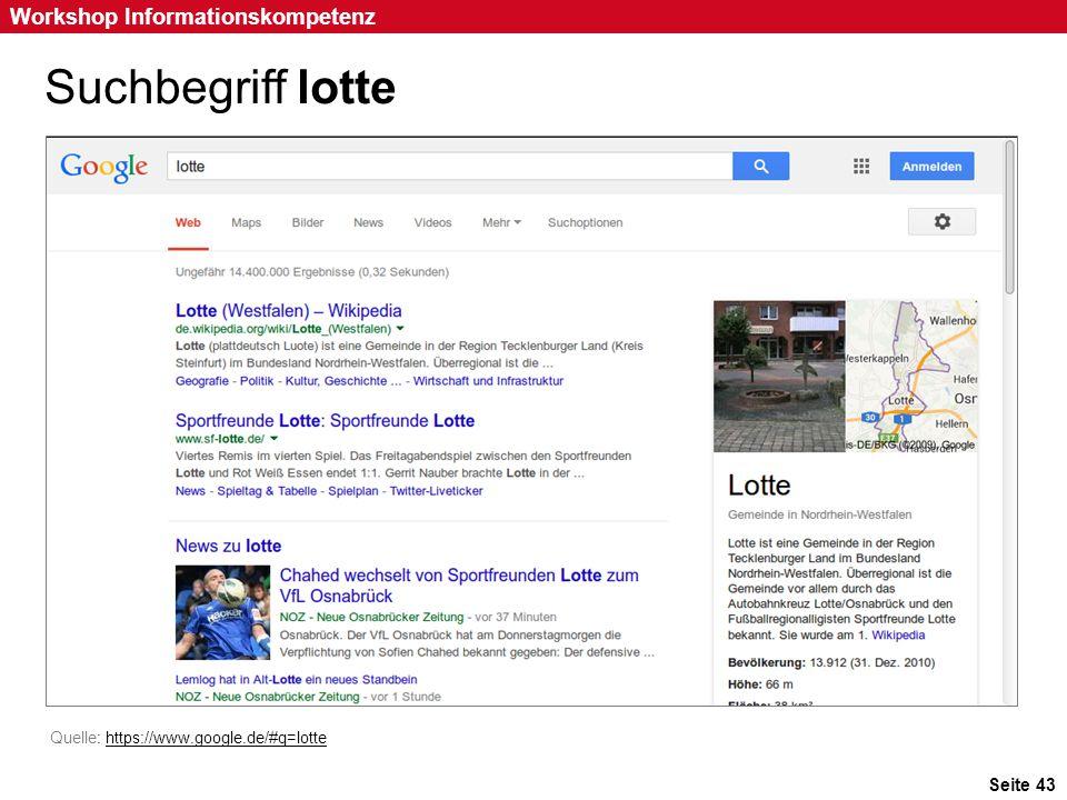 Suchbegriff lotte Art der Suchanfrage: Einwortsuche Suchbegriff: lotte