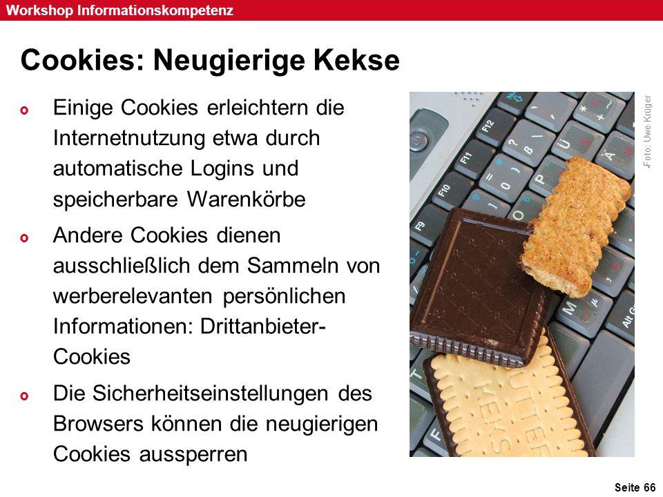 Cookies: Neugierige Kekse