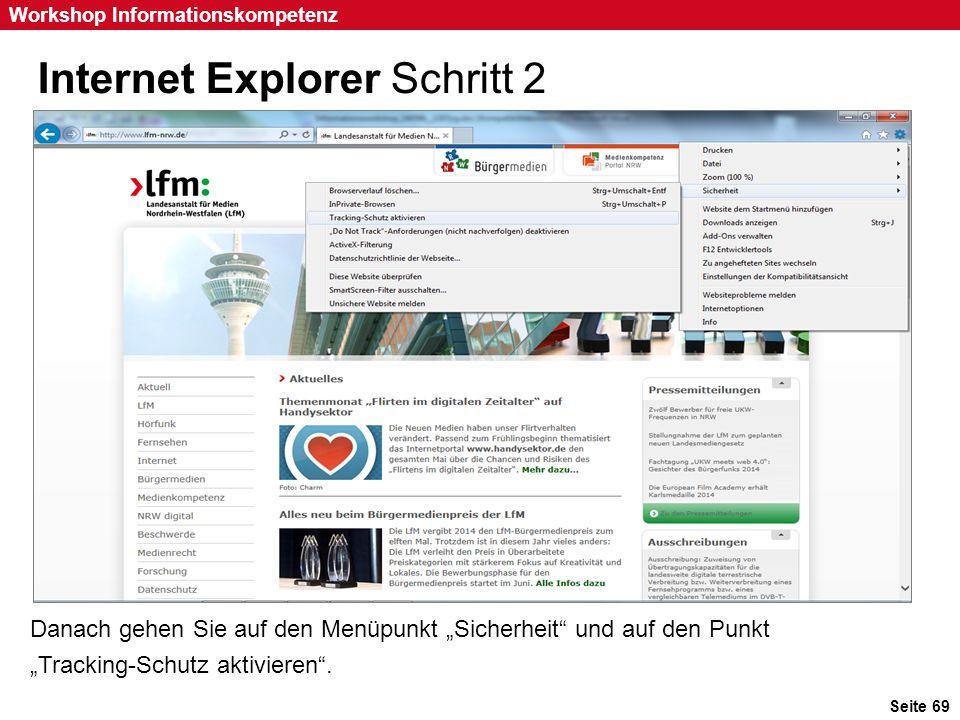 Internet Explorer Schritt 2