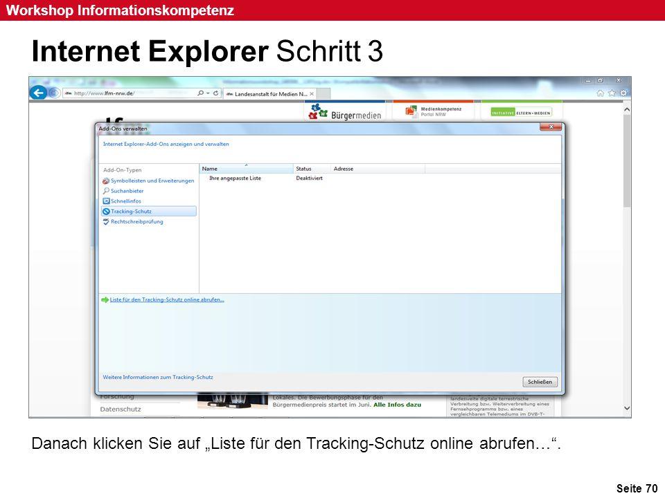 Internet Explorer Schritt 3