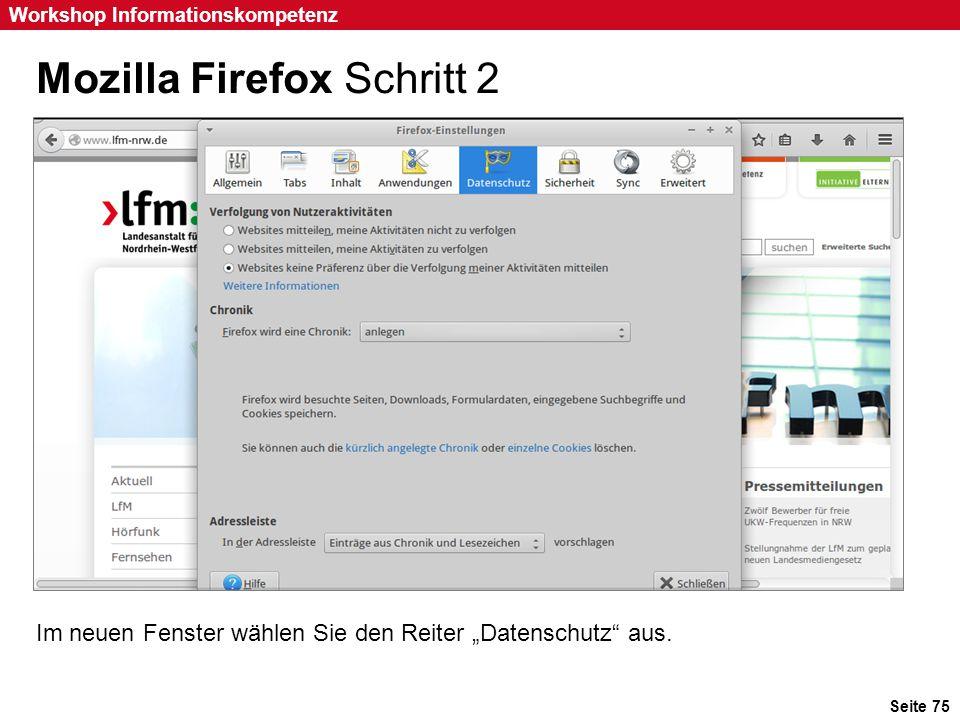 Mozilla Firefox Schritt 2