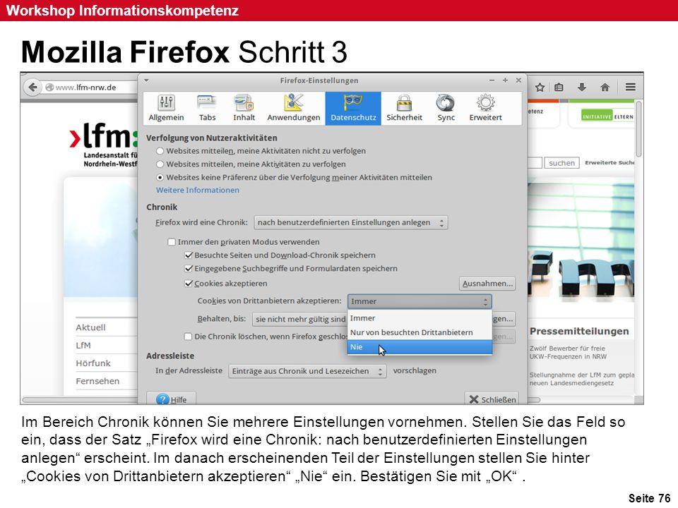 Mozilla Firefox Schritt 3