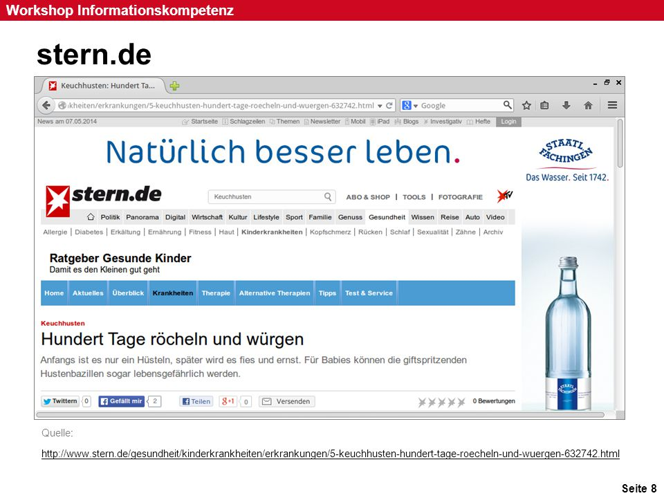 stern.de Inhalt des Ratschlags: Gehen Sie zum Arzt Fundort: Stern.de