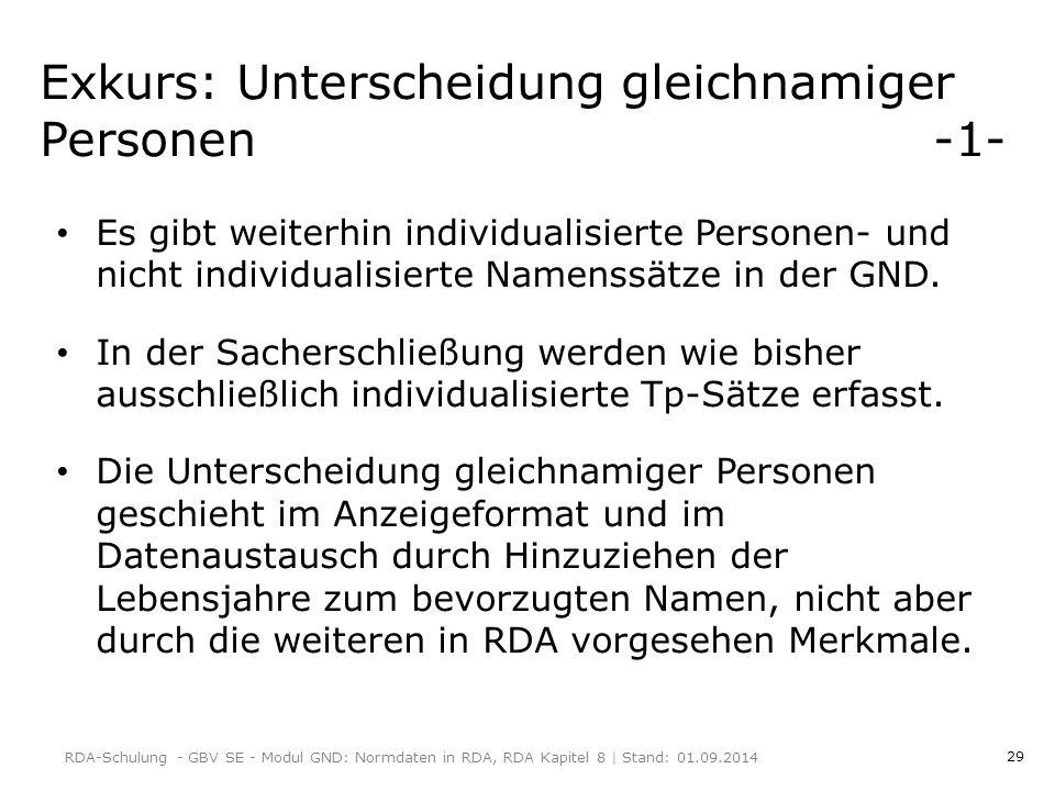 Exkurs: Unterscheidung gleichnamiger Personen -1-