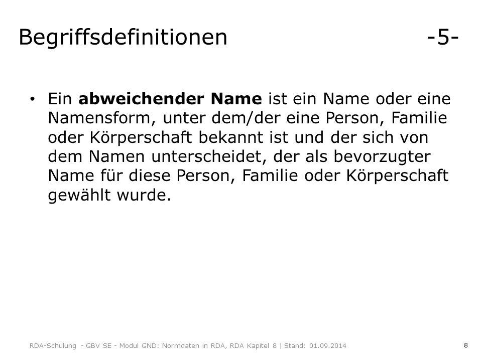 Begriffsdefinitionen -5-