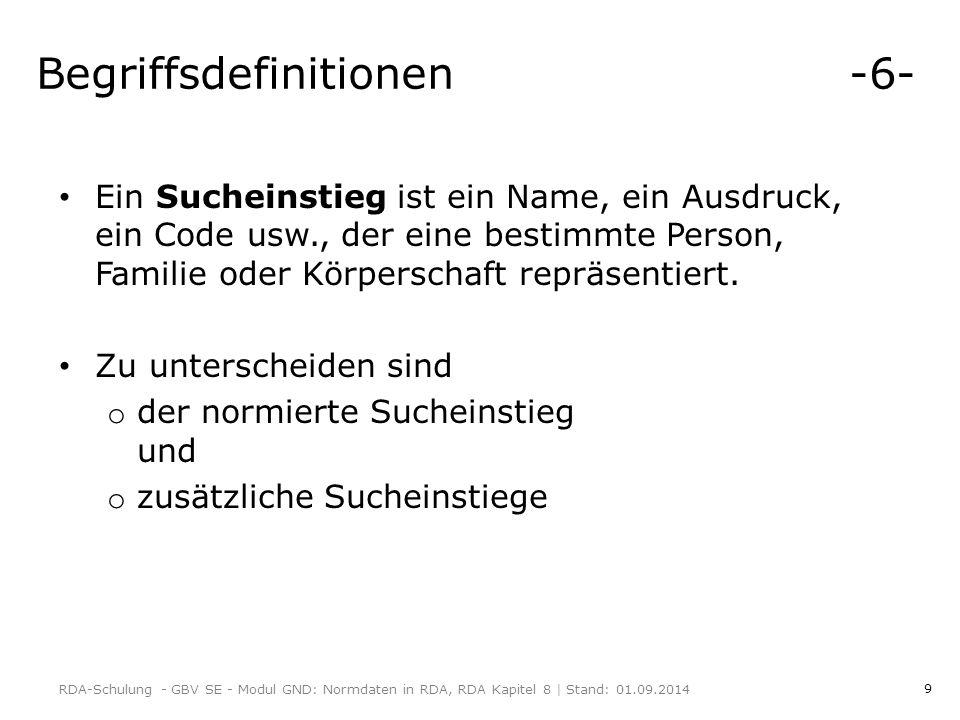 Begriffsdefinitionen -6-
