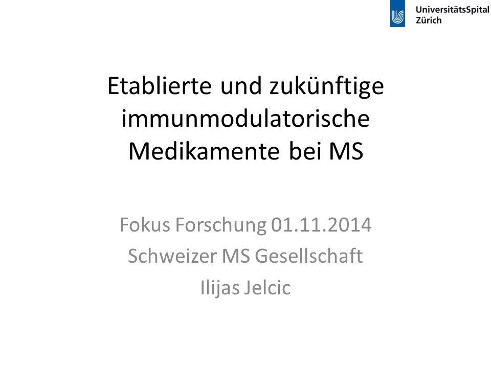 Etablierte und zukünftige immunmodulatorische Medikamente bei MS